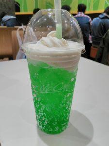 melon soda ice cream float